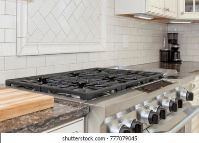 stainless steel gas stove top gray