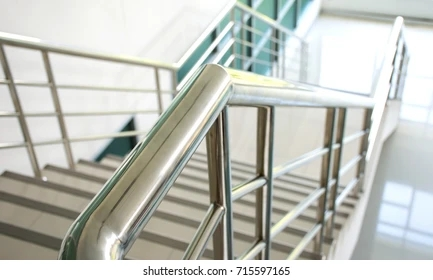 Stainless Steel Handrail Images Stock Photos Vectors Shutterstock   Stainless Steel Banister Rail   Ags Stainless   Satin Stainless   Metal Fabrication   Railing Designs   Cable Railing Kits