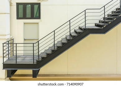 Iron Stairs Images Stock Photos Vectors Shutterstock | Ladder Railing Design Iron | Balcony | Wrought Iron | Railing Ideas | Metal | Baluster