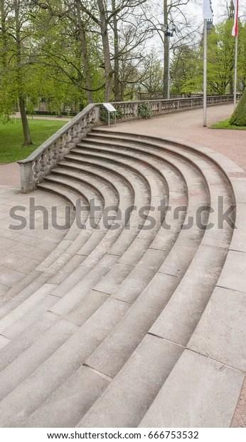 Stairs Park Fulda City Hesse Germany Royalty Free Stock Image