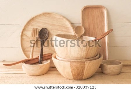 kitchen wooden utensils counter resurfacing still life on stock photo edit now with wood background