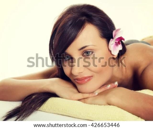 Stone Massage Sensual Woman Getting A Hot Stone Massage At Spa Salon Instagram Filter