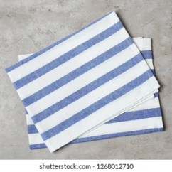 Kitchen Napkins Table Centerpiece Ideas 165 427 Images Royalty Free Stock Photos Striped Fabric On Gray Background Top View