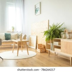 Modern Living Room Wooden Furniture Brown Sets Images Stock Photos Vectors Shutterstock Stylish Interior With