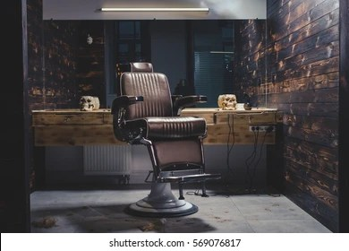 antique wood barber chair modern living room chairs images stock photos vectors shutterstock stylish vintage in wooden interior barbershop theme