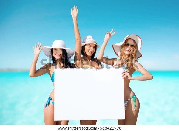 Summer Holidays Travel People Advertisement Vacation Stock Photo Edit Now 568421998