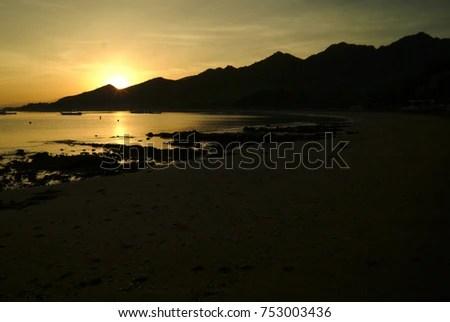 Sunrise On Pemuteran Beach Bali Indonesia Stock Photo Edit