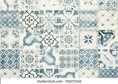 https www shutterstock com image photo texture ceramic tiles oriental style portugal 761071165
