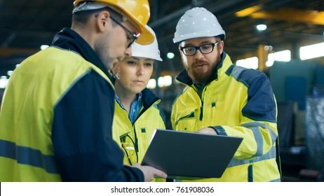 factory worker computer images