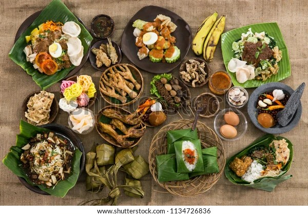 Top View Traditional Indonesian Culinary Food Stock Photo Edit Now 1134726836