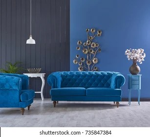 classic living room decor houzz furniture turquoise sofa decoration stock photo edit now grey and blue wall horizontal banner with empty wooden floor