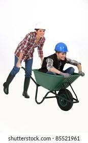 race wheelbarrow images stock
