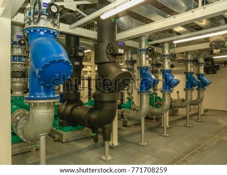 Typical Installation Pump Piping Chiller Plant Stock Photo (Edit Now) 771708259 - Shutterstock