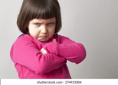 kids pouting images stock
