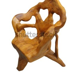 Unusual Wooden Chair Plastic Covers Target Isolated Clipping Path Stock Photo Edit Now With