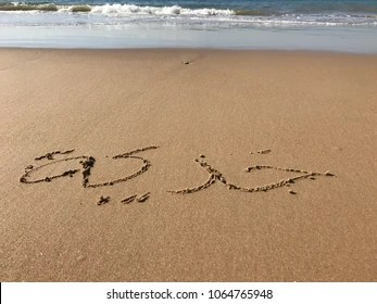 Vacation Writing Names On Beach Sand Stock Photo Edit Now 1064765948