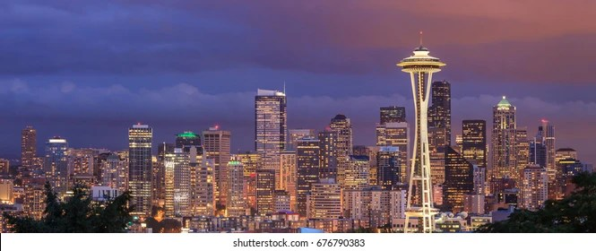 seattle skyline images stock