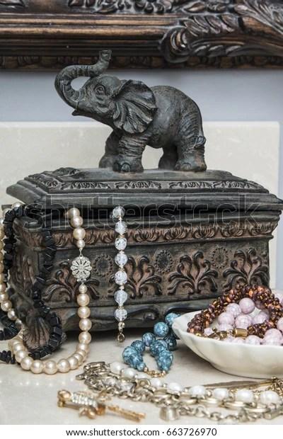 Elephant Jewelry Box : elephant, jewelry, Vintage, Jewelry, Elephant, Indian, Style, Stock, Photo, (Edit, 663726970