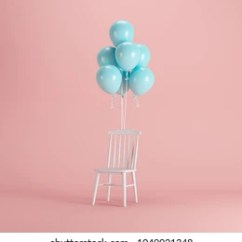 Chair With Balloons High Table Chairs Balloon Images Stock Photos Vectors Shutterstock White Blue Floating On Pink Background Minimal Party Concept Idea