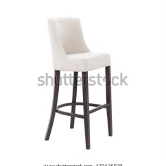High Chair Wooden Legs Beach Cup Holder White Stock Photo Edit Now 632625500 With Isolated On Background