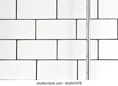 https www shutterstock com image photo white vintage metro tiles black grout 416547478