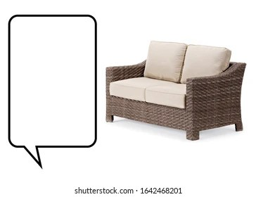 https www shutterstock com image photo wicker two seater sofa isolated on 1642468201