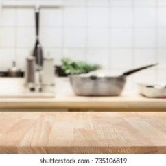 Wood Table Kitchen What Is The Average Cost Of A Remodel Background Images Stock Photos Vectors Shutterstock Top On Blur Room For Montage Product Display Or Design Key