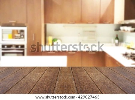 wood table kitchen toddler play kitchens top on blur background stock photo edit now 429027463 the of can be used for