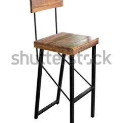 Chair Steel Legs Windsor Rocking Cushions Wooden Simplistic On Stock Photo Edit Now With White Background Work Path