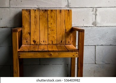 wooden chairs images chair covers and tablecloths for sale stock photos vectors shutterstock without seats on brick wall background