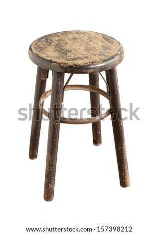stool chair in chinese to twin bed wooden isolated on white stock photo edit now background