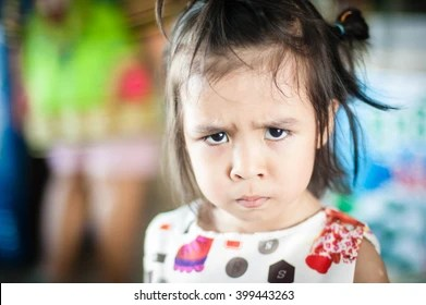 pouting child images stock