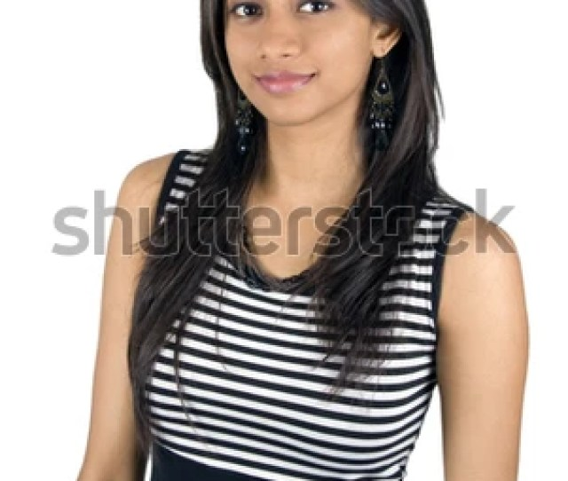 Young Indian Girl Isolated On A White Background