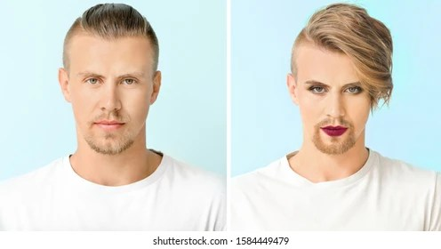 Male To Female Makeup Before And After