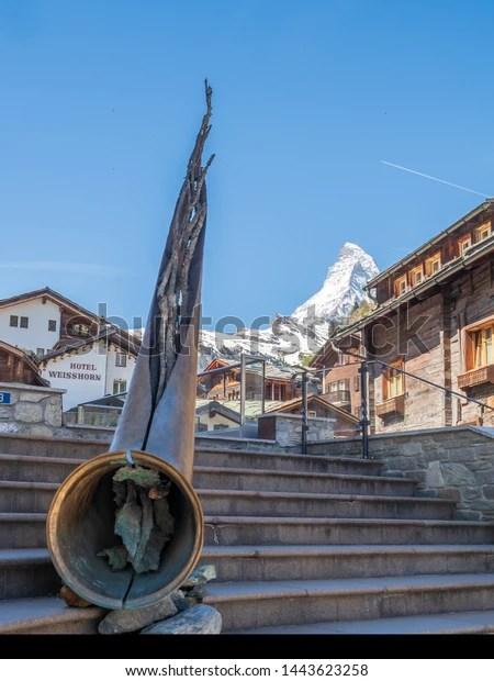 Zermat Switzerland May 31st 2019 Alphorn Stock Photo Edit