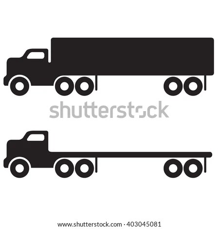 18 Wheeler Over Road Semi Truck Stock Vector (Royalty Free