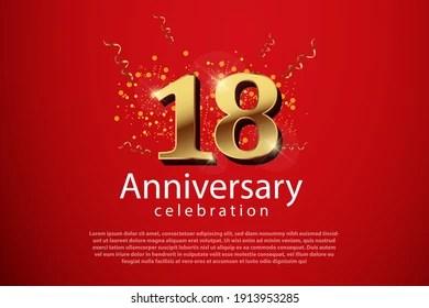 https www shutterstock com image vector 18th anniversary background 3d number illustration 1913953285