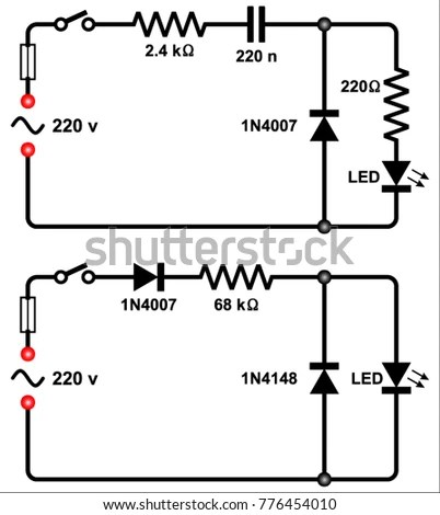 220 Volt LED Circuit Stock Vector (Royalty Free) 776454010