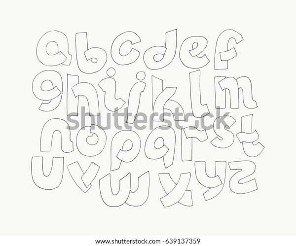 2d Hand Drawn Alphabet Letters Z Stock Vector (Royalty