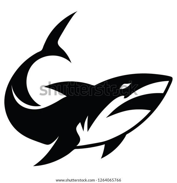 2d vector illustration shark