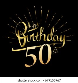 50th birthday images stock