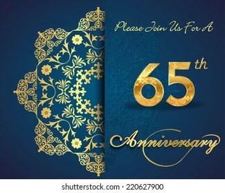 https www shutterstock com image vector 65 year anniversary celebration pattern design 220627900