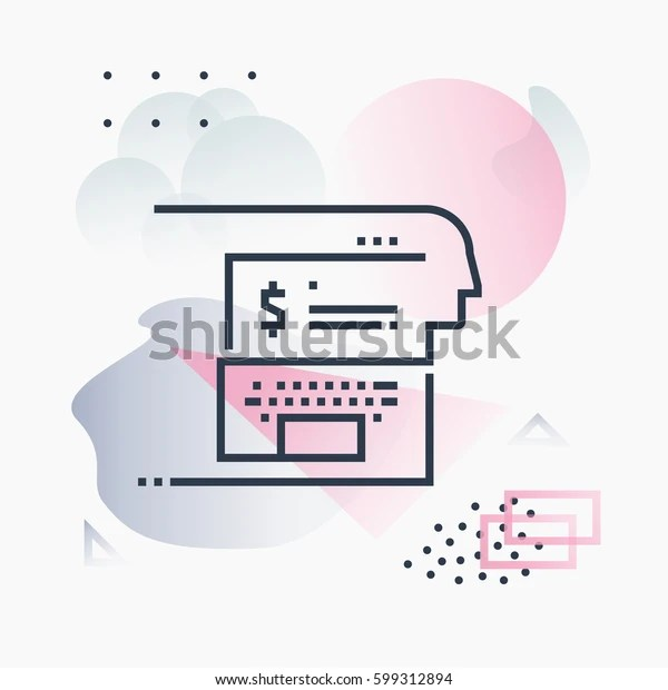 Abstract Illustration Concept Online Banking Digital Stock Vector Royalty Free 599312894