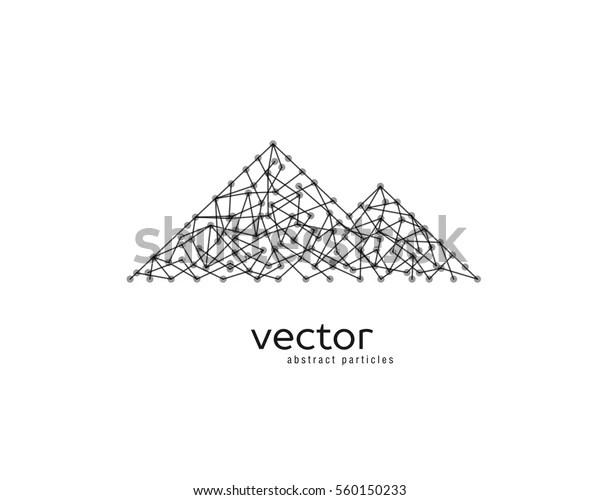 Abstract Vector Illustration Mountain Range On Stock