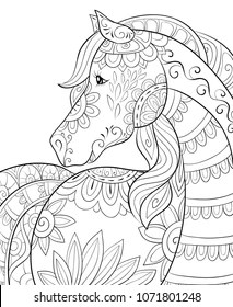 Horse Coloring Page Images Stock Photos Vectors Shutterstock