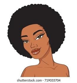 Black Girl Hair Cartoon Images Stock Photos Vectors Shutterstock