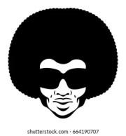 afro hair man stock