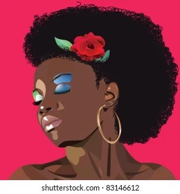 Afro Natural Hair Stock Illustrations Images Vectors Shutterstock