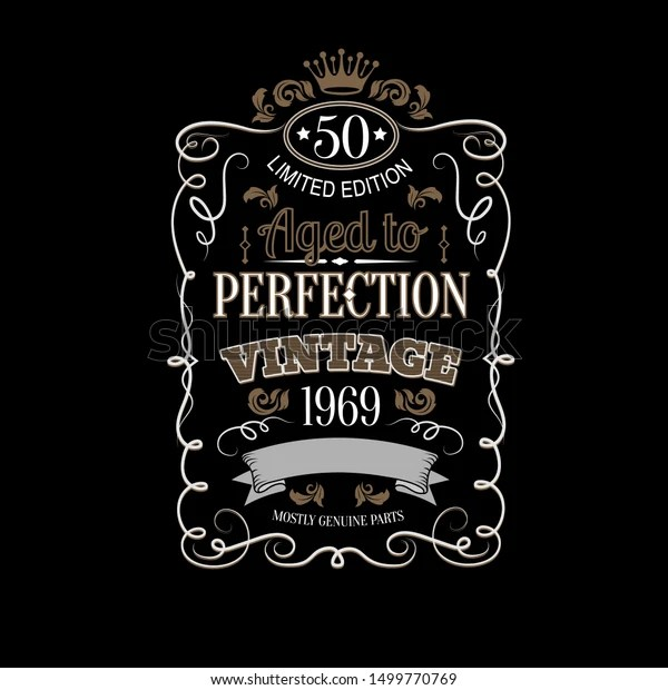 https www shutterstock com image vector aged perfection vintage theme vector illustration 1499770769