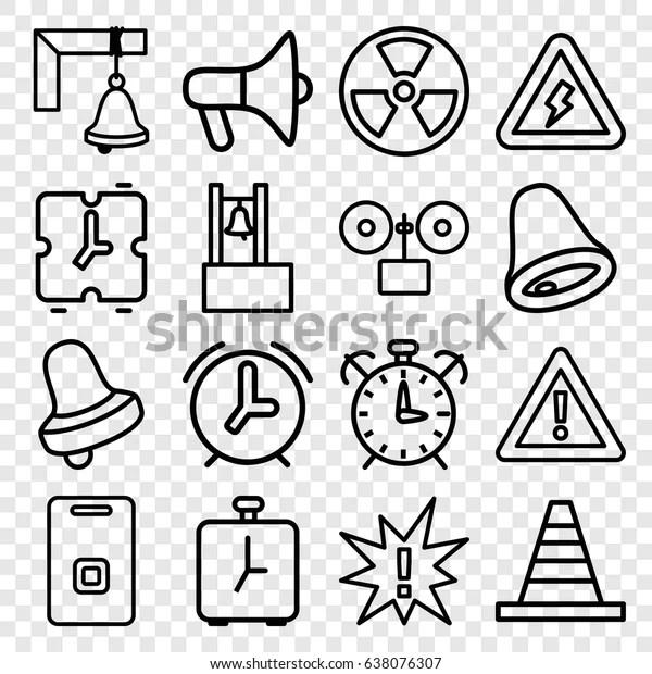 Alert Icons Set Set 16 Alert Stock Vector (Royalty Free